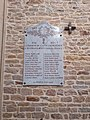 Plaque morts WWI Intérieur église St Cyr Menthon 7.jpg