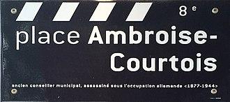 Place Ambroise-Courtois - Image: Plaque place Ambroise Courtois