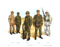 Plate X, Field Uniforms - U.S. Marine Corps Uniforms 1983 (1984), by Donna J. Neary.png