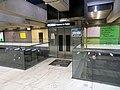 Platform elevator on Embarcadero station mezzanine level, July 2019.JPG