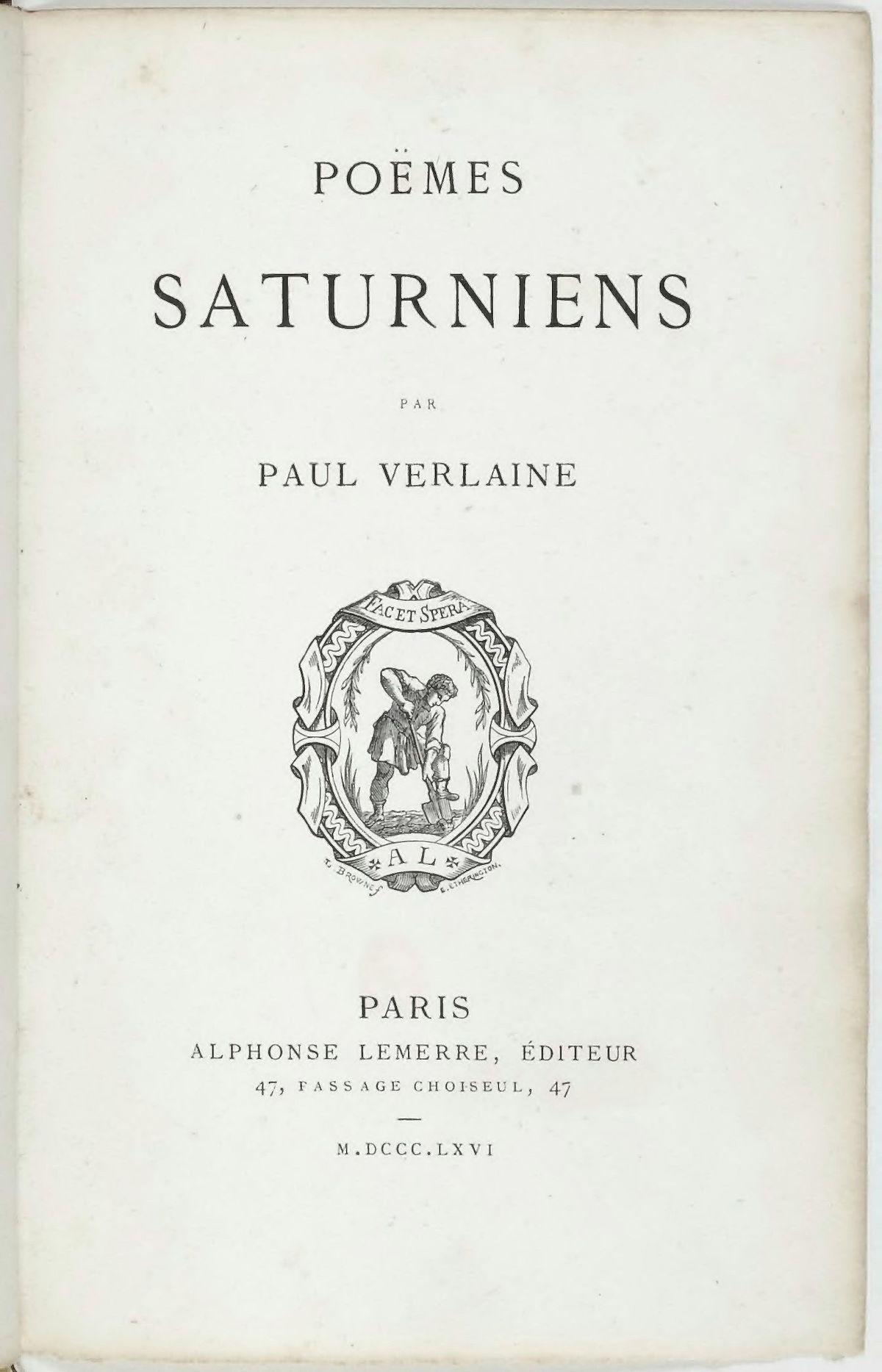 Poèmes Saturniens Wikipédia