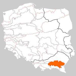 Central Beskidian Piedmont - Image: Pogórze Środkowobeskidzkie