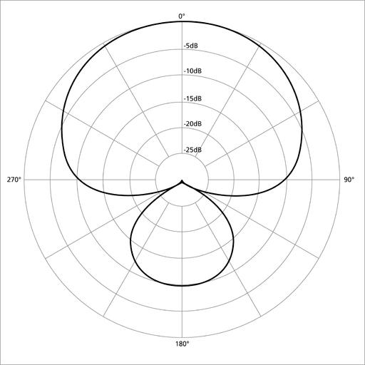 Polar pattern supercardioid