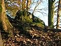 Polnoon Castle - isolated masonary.JPG
