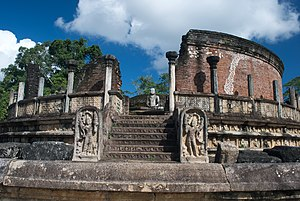 Ancient stupas of Sri Lanka - The Polonnaruwa Vatadage.