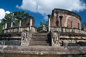 Ancient stupas of Sri Lanka - The Polonnaruwa Vatadage.