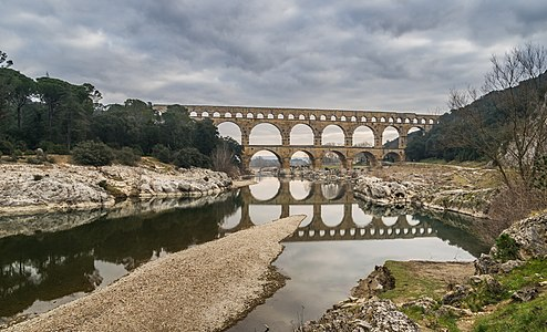 Pont du Gard, commune of Vers-Pont-du-Gard, Gard, France