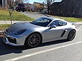 Porsche Cayman GT4 Main Street Saint Johnsbury VT November 2019.jpg