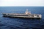 Port beam view of USS George Washington (CVN-73) during sea trials 1992 DN-ST-92-09704.jpg