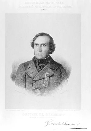 Gustave de Beaumont - Portrait of Gustave de Beaumont, published in 1848