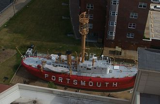Portsmouth, Virginia - The Lightship Portsmouth is part of the Naval Shipyard Museum