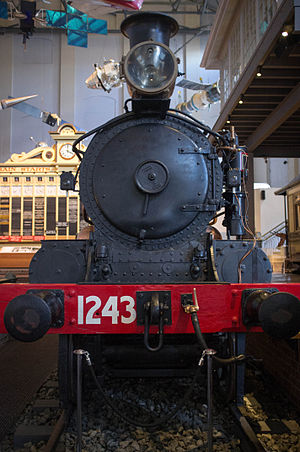 Powerhouse Museum - Locomotive 1243 in Transport Hall