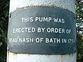 Poyle Pump - inscription on the pump - geograph.org.uk - 88247.jpg