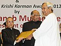 Pranab Mukherjee presented the Krishi Karman Awards 2012-13 to State Governments for exemplary performance in increasing food grain production, at the inauguration of the World Congress on Agroforestry- 2014 (2).jpg