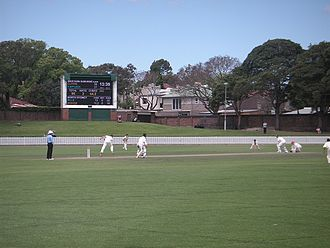 Pratten Park - Michael Clarke batting at Pratten Park 2012