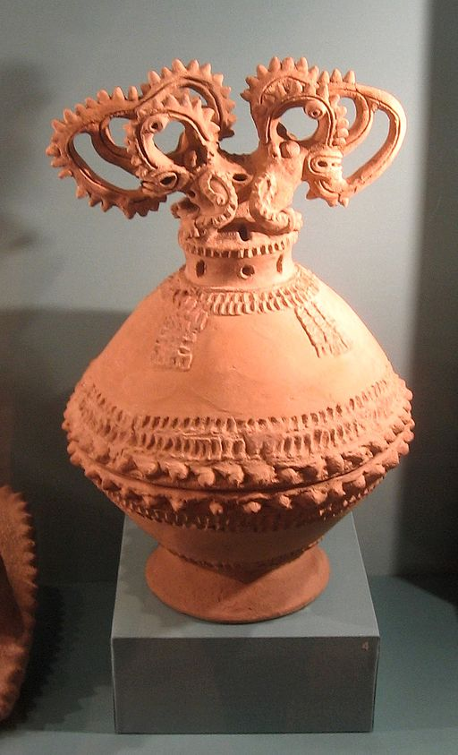 Pre-Columbian incense burner, Costa Rica (Carlos Museum)