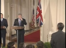 File:Pres. Clinton and P.M. Blair Joint Press Conference (1998).webm
