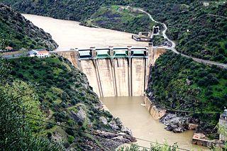 Saucelle Dam Dam in Saucelle, Salamanca, Castile and León