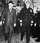 President Dwight D. Eisenhower aboard USS Boston (CAG-1), circa in April 1960.jpg