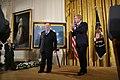 "President George W. Bush Applauds Korean War Era Veteran Corporal Tibor ""Ted"" Rubin, After Awarding Rubin the Medal of Honor - DPLA - 44ba5ca5a708dffc6f6d7e35a76e7315.JPG"