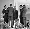 President Kennedy with advisors after EXCOMM meeting, 29 October 1962 crop.jpg