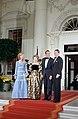 President Ronald Reagan and Nancy Reagan greet King Juan Carlos I and Queen Sophia of Spain.jpg