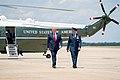 President Trump Arrives at Joint Base Andrews (48135504742).jpg