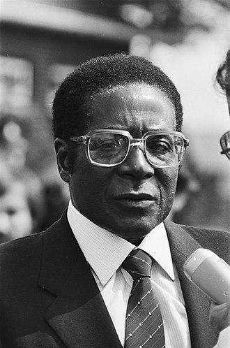 1981 Entumbane uprising - Prime Minister Robert Mugabe in 1982