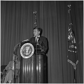 Bernard L. Austin - Image: President announces appointment of new Director of Central Intelligence Agency. President Kennedy at podium... NARA 194192