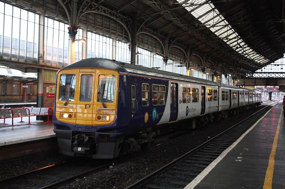 Preston - Arriva 319365 Manchester Airport service
