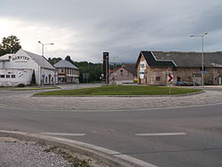 roundabout in the village center