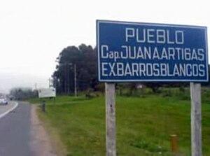 Barros Blancos - Image: Pueblo Barros Blancos, Canelones