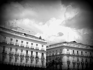 Puerta del Sol in Madrid - black and white photograph.jpeg