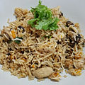 Pumpkin, mushroom, chicken, Indian basmati rice cooked.jpg