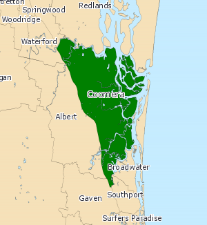 Electoral district of Coomera - Electoral map of Coomera 2008