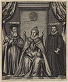 Queen Elizabeth I; Sir Francis Walsingham; William Cecil, 1st Baron Burghley by William Faithorne (2).jpg