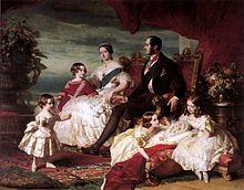 Königin Victoria, Prinz Albert und die fünf ältesten Kinder. Gemälde von Franz Xaver Winterhalter, 1846 (Quelle: Wikimedia)