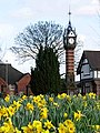 Queens Park clock tower in the Spring - geograph.org.uk - 381661.jpg