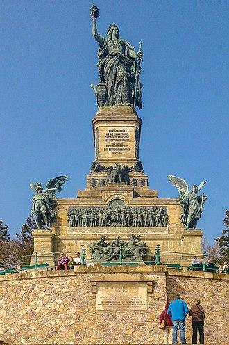 Niederwalddenkmal - The Niederwalddenkmal in 2014