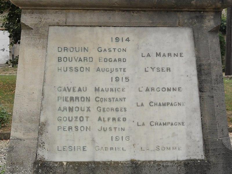 Récicourt (Meuse) monument aux morts
