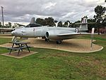 RAAF (A77-871) Gloster Meteor WK791 F8 gate guardian at RAAF Base Wagga.jpg