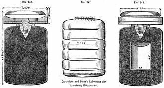 Armstrong Gun - Powder cartridge with lubricator