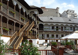 Lipscani - Image: RO B Manuc Inn inside