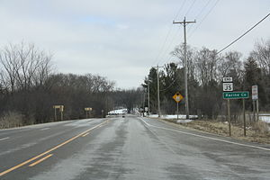 Racine County, Wisconsin - Racine County sign on WIS 11