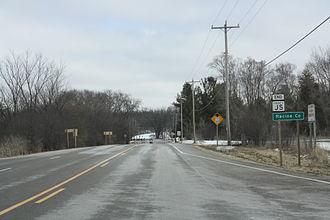 Racine County, Wisconsin - Racine County sign on WIS 11