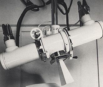 Orthovoltage X-rays - Image: Radiumhemmet röntgenapparat 1938