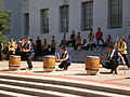 Raijin Taiko performing on Upper Sproul Plaza on Cal Day 2009 5.JPG