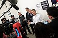 Rand Paul, Mick Mulvaney & Danny Tarkanian with media (23414771239).jpg