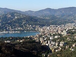 Veduta attuale del golfo di Rapallo