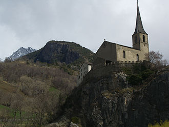 Raron - Raron Church and surroundings